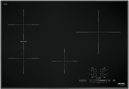 Smeg SIMU5 Induction Cooktop with x High Light Radiant Element, Black Suprema Glass and Soft Touch Controls, in Black