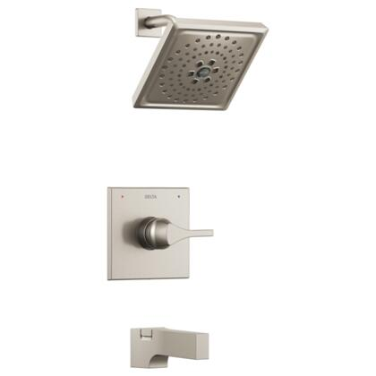Zura T14474-SS Delta Zura: Monitor 14 Series H2Okinetic Tub and Shower Trim in Stainless