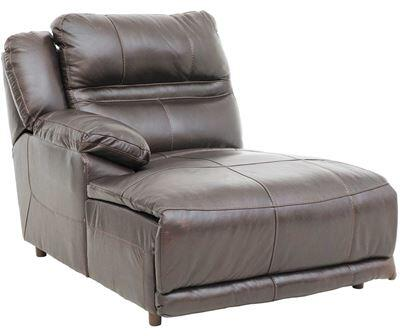 Catnapper 4182128309308309 Bergamo Series Leather Metal Frame Chaise Lounge