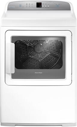 DE7027 AeroCare Electric Dryer with SmartTouch Controls [Dial and Steam Cycles], White Exterior Finish with [Toughened Glass] Work Surface