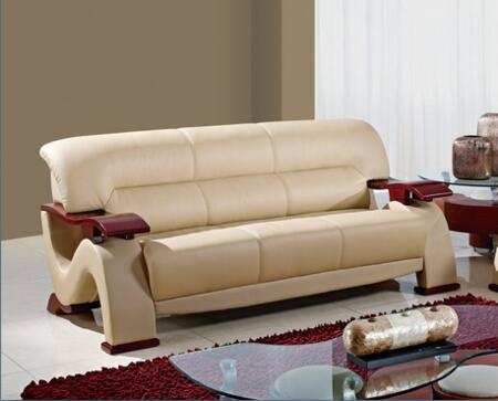 Global Furniture USA U2033CAPPS  Stationary Bonded Leather Sofa