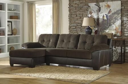 Benchcraft Vanleer 15900-1X-6X Sectional Sofa with Arm Corner Chaise, Arm Sofa and Button Tufted Details in Chocolate
