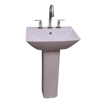 """Barclay 3-76WH Summit 500 Pedestal Lavatory, with Pre-drilled Faucet Hole, 5.75"""" Basin Depth, and Vitreous China Construction"""