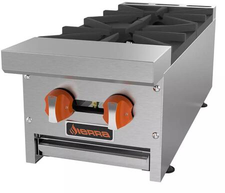 "Sierra SRHPx "" Countertop Hot Plates with Burners, BTU per Burner, Total BTU, in Stainless Steel"