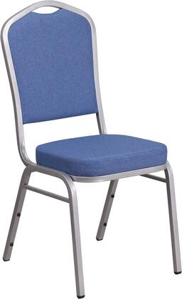hercules series crown back stacking banquet chair with blue fabric and 2 5 thick seat silver frame fd c01 s 7 gg 2