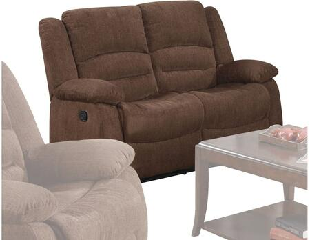Acme Furniture 51026 Bailey Series Chenille Reclining with Wood and Metal Frame Loveseat