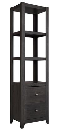 """Signature Design by Ashley Javarin Collection B171-X20 72"""" Bookcase with 3 Shelves, 1 Door and Tapered Feet in"""