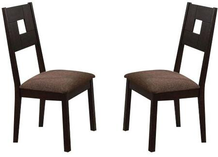 Acme Furniture 04892 Zenda Series Transitional Fabric Wood Frame Dining Room Chair
