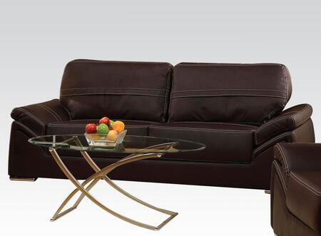 Acme Furniture 51695 Ember Series  Bycast Leather Sofa