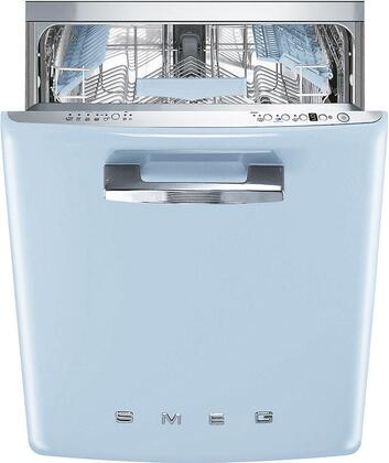 "Smeg STFABUx 24"" 50s Retro Style Series Built In, Fully Integrated Dishwasher with 13 Place Settings, 10 Wash Cycles and Stainless Steel Tub, in"