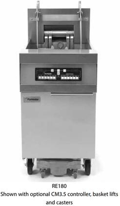 "Frymaster FPRE380F 60"" RE80 Series Commercial Electric Fryer with 21KW Input, Digital Controller, Wide Cold Zone, Open Frypot Design and Built-In Filtration System in Stainless Steel"