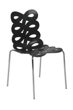 Euro Style 01177BLK Kristin Series  Dining Room Chair