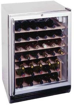 "Summit SWC6GBLBICSS 23.625"" Built-In Wine Cooler, in Black"