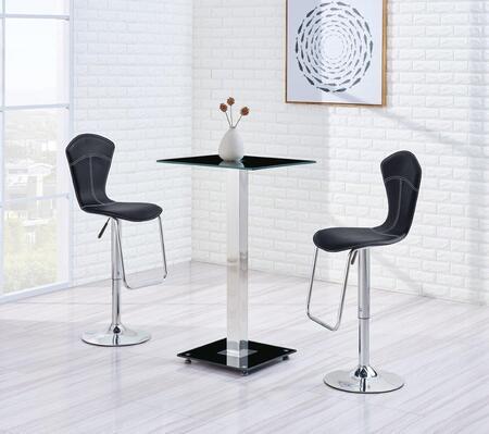 Global Furniture USA MD096BTM260BSBL3PCSET Bar Tables