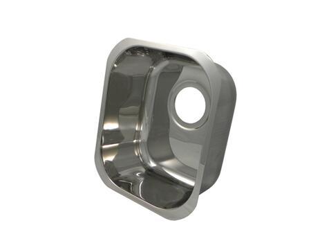 "Opella 13201. Rectangular 14"" x 12"",18 Gauge, 5-1/2"" Stainless Steel, Drain Opening Bar Sink"
