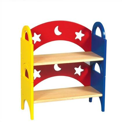 Guidecraft G98043Moon & Stars Series Wood 2 Shelves Bookcase
