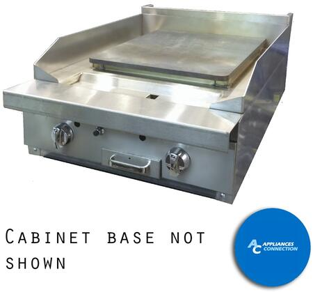 "Southbend P24PP Platinum Series 24"" Griddle with Two Standard Burners and Plancha Plate, Up to 32000 BTUs (NG)/30000 BTUs (LP)"