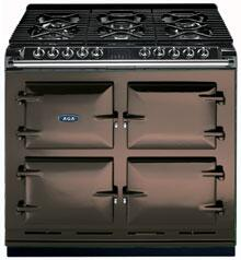 AGA A64NGCHO Six-Four Series Dual Fuel Freestanding Range with Sealed Burner Cooktop, 4.5 cu. ft. Primary Oven Capacity, in Chocolate