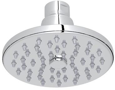 "Rohl 1072/8 4"" Rodello Single-Function Circular Rain Showerhead with 2 GPM Flow Rate and Spray Pattern in"