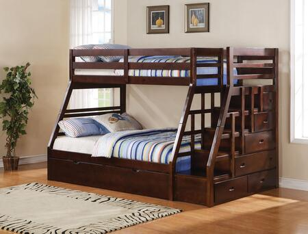 Acme Furniture 37015 Jason Series  Twin over Full Size Bunk Bed | Appliances Connection