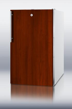"""Summit FF511LADAFR 20"""" Compact All-Refrigerator with Custom Panel Frames, Full Auto Defrost, Factory Installed Lock, Fully Finished Cabinet, Adjustable Shelves and Adjustable Thermostat,"""