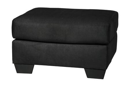 """Milo Italia Tristian Collection MI-5463ATMP 31"""" Ottoman with Polyester Upholstery and Tapered Block Feet in"""