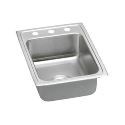 """Elkay LRADQ1722450 Lustertone 4-1/2"""" Drop-In Single Bowl Stainless Steel Sink"""