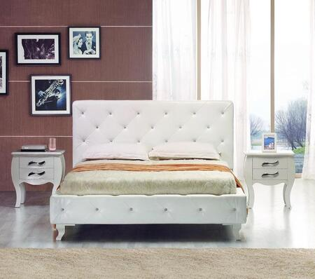 VIG Furniture VGJYMONTECARLOWHTCEKN Modrest Monte Carlo King