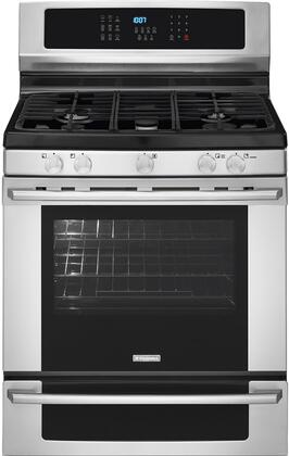 "Electrolux EI30GF35JS 30"" IQ-Touch Series Gas Freestanding Range with Sealed Burner Cooktop, 5.1 cu. ft. Primary Oven Capacity, Warming in Stainless Steel"