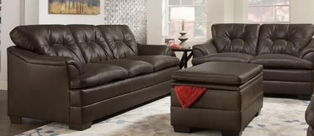 Simmons Upholstery 512203202APOLLOESPRESSO Apollo Living Roo