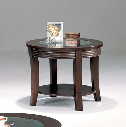 Coaster 5524 Simpson Series Casual Wood Round None Drawers End Table