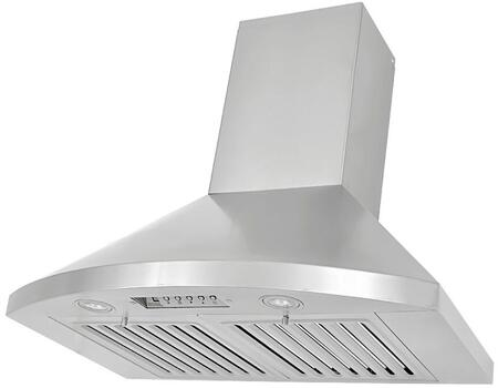 "Kobe RA923XSQB-1 XX"" Wall Mount Range Hood With 750 CFM, 3W LED Lights With 3-level lighting, Eco Mode, 6 Speed, 6"" Round Exhaust Duct, Time Delay Control, In Stainless Steel"