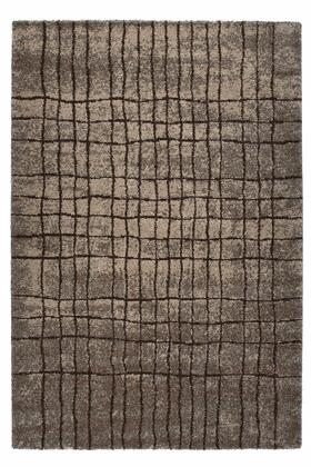 Citak Rugs 7450-050X Onyx Collection - Grid - Anthracite