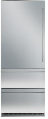 """Liebherr HCB1561 30"""" Counter Depth Bottom Freezer Refrigerator with 14.1 cu.ft. Total Capacity 4.3 cu.ft. Freezer Capacity 3 Glass Shelves"""