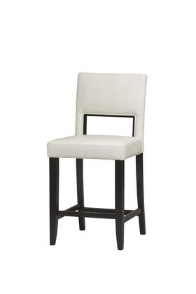 Linon 14053WHT01KDU Vega Series Commerical or Residential PVC Upholstered Bar Stool