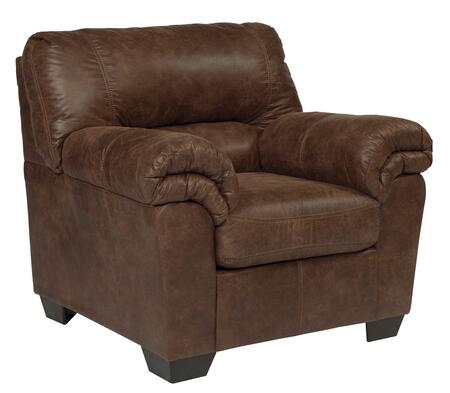 """Milo Italia Bradford MI-4208BTMP 40"""" Chair with Plush Padded Arms, Tapered Block Feet and Divided Back Cushion in"""