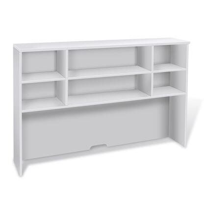 "Unique Furniture 100 Collection 63"" Hutch with 3 Adjustable Shelves, Scratch Resistant, High Pressure Melamine, Medium-Density Fiberboard (MDF) Materials and Open Grain Finish in"