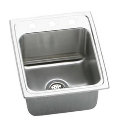 """Elkay DLR151710 15"""" Top Mount Self-Rim Single Bowl 18-Gauge Stainless Steel Sink"""