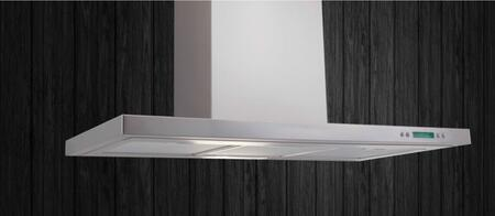 Toblino Stainless Wall Mounted Range Hood: Standard View Mounted on a Wall