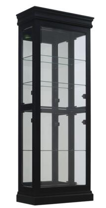 Bello CC30-9643-X33 Louie Philip Curio Display Cabinet with 4 Touch-Latch Side-Access Doors, Interior LED Touch Lighting and Double Stacked Top Molding in