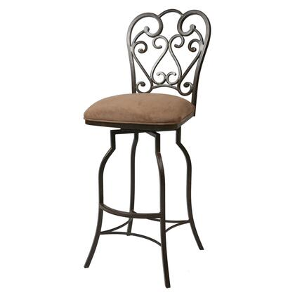 Pastel Furniture QLMA219 Magnolia Bar Height Swivel Barstool in Bronze