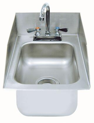 Drop In Sink with Back and Side Splashes