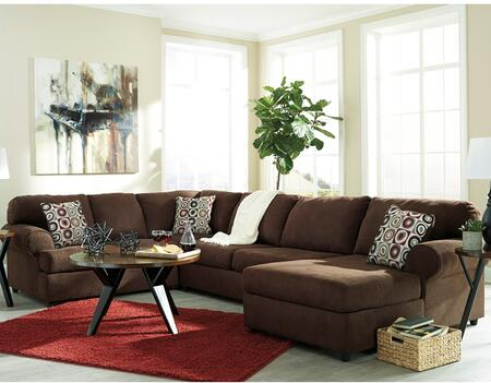 Flash Furniture Signature Design by Ashley Jayceon 3 PC Sectional with Left Arm Facing Sofa, Right Arm Facing Chaise, Toss Pillows, Loose Seat Cushions and Fabric Upholstery in