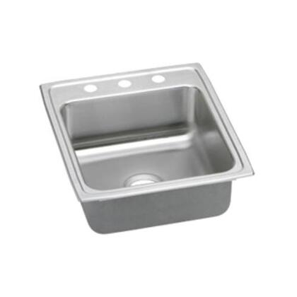 "Elkay LRAD202265 20"" Top Mount Self-Rim Single Bowl 18-Gauge ADA Compliant Stainless Steel Sink"