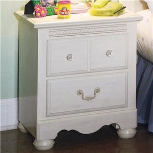 Standard Furniture 4057 Diana Series Rectangular Wood Night Stand