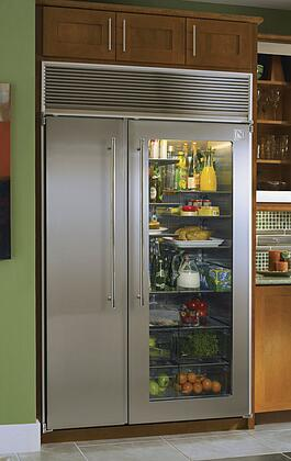 Northland 60SSSGX  Counter Depth Side by Side Refrigerator with 39.3 cu. ft. Capacity in Glass Refrigerator/Stainless Freezer Door
