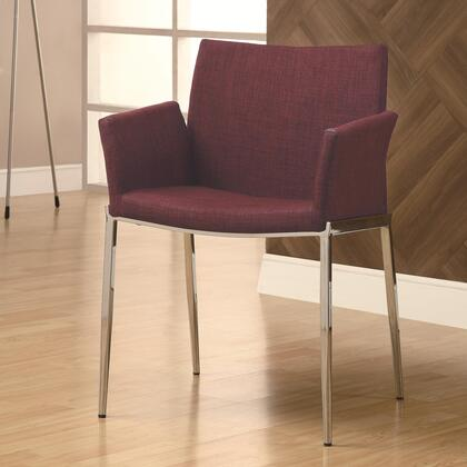 Coaster 120723 Dining 120 Series Contemporary Fabric Metal Frame Dining Room Chair