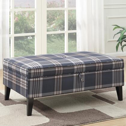 Coaster 500449 Ottomans Series Transitional Fabric Wood Frame Ottoman