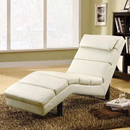 Monarch I8908 Contemporary Faux Leather Chaise Lounge