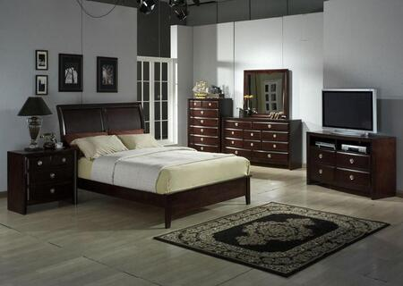 Accent HA870501BED Arlington Series  King Size Sleigh Bed